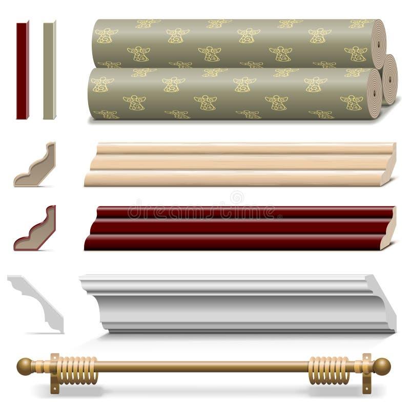 Matériaux de mur de finissage de vecteur illustration de vecteur