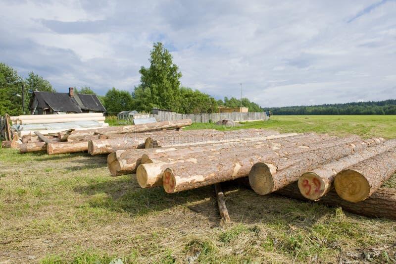 Matériaux en bois pour la construction de maison photo stock
