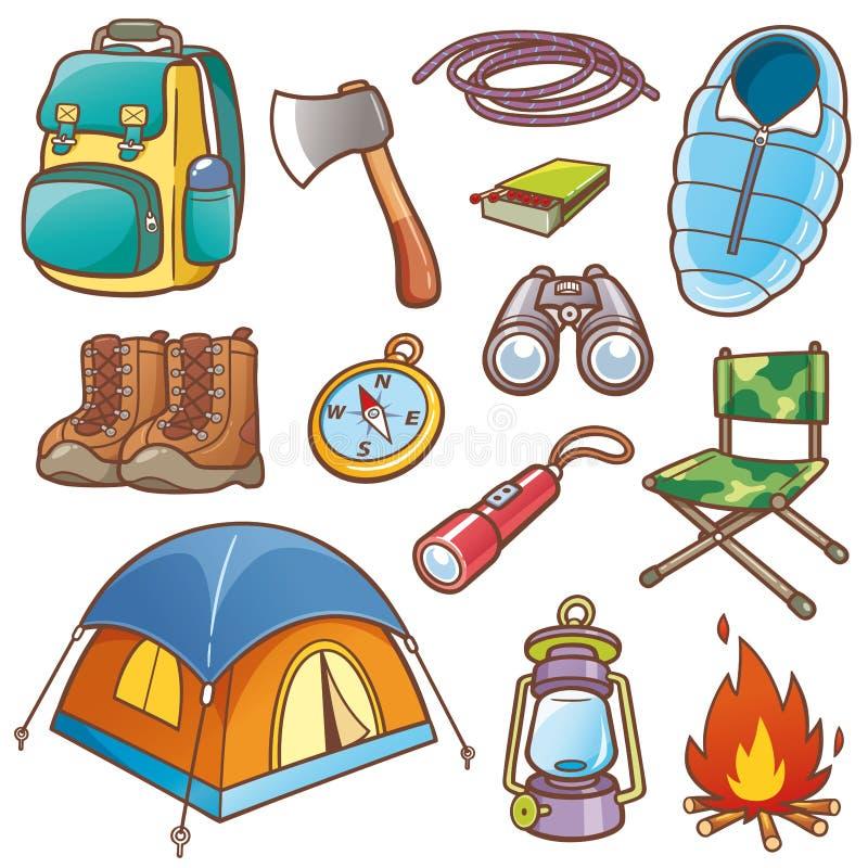Matériel campant illustration stock