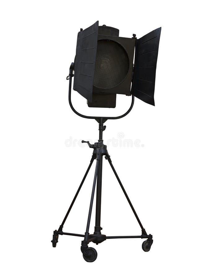 mat riel d 39 clairage de projecteur de studio d 39 isolement sur le blanc photo stock image du. Black Bedroom Furniture Sets. Home Design Ideas