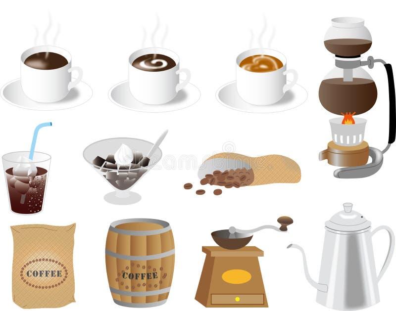 Matériel de café pour le Web image libre de droits