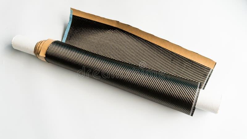 Matériel de fibre foncée de carbone de produit composé photo stock