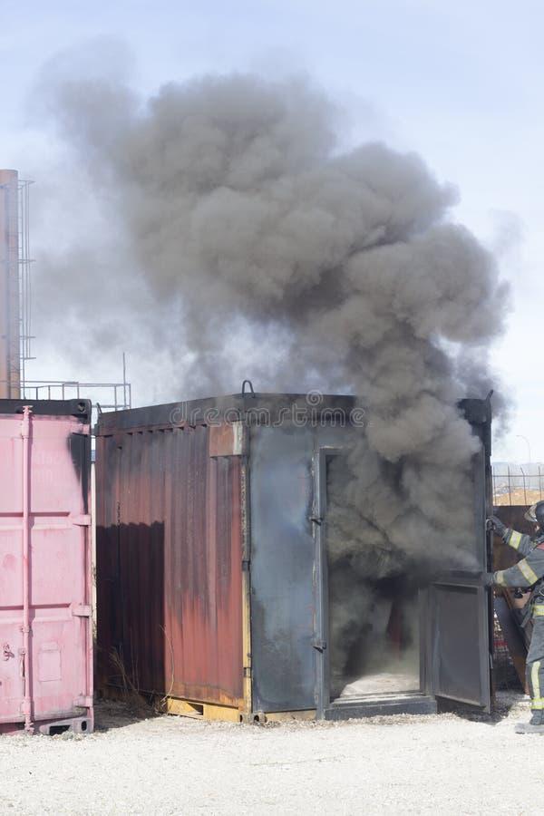 Matériel de formation de caserne de pompiers images libres de droits