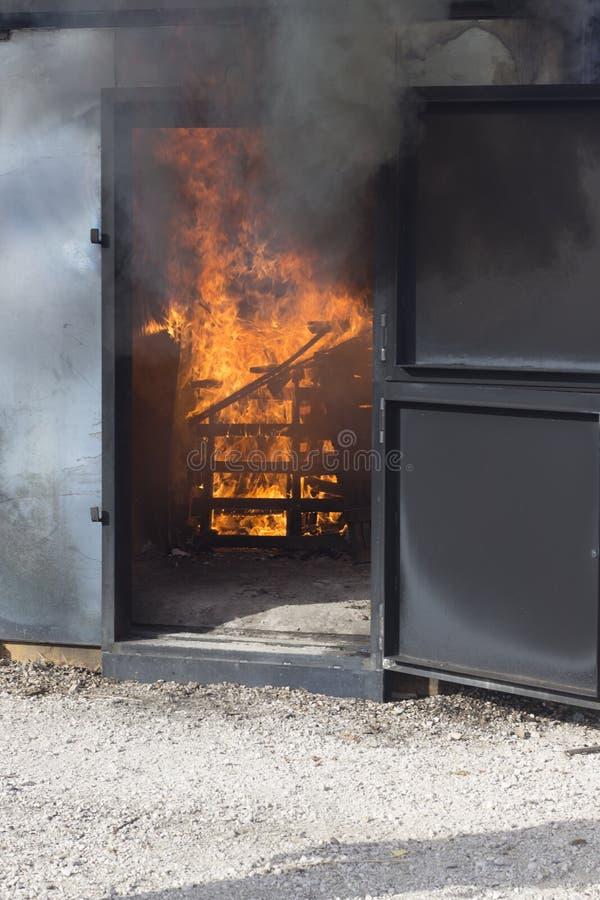 Matériel de formation de caserne de pompiers photos libres de droits