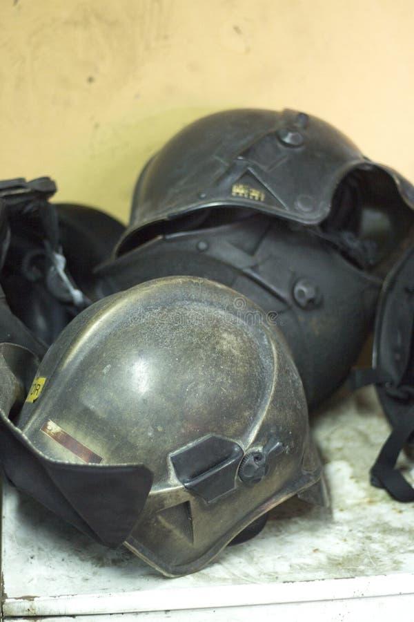 Matériel de formation de caserne de pompiers photographie stock