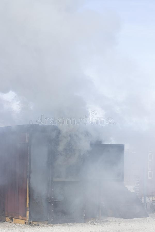 Matériel de formation de caserne de pompiers photos stock
