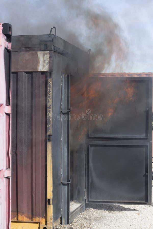 Matériel de formation de caserne de pompiers image stock