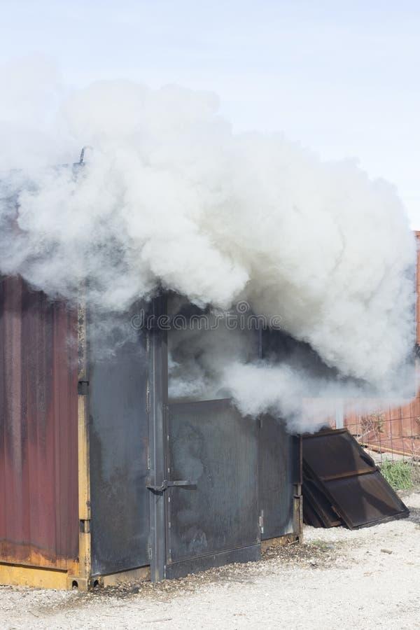 Matériel de formation de caserne de pompiers photo stock