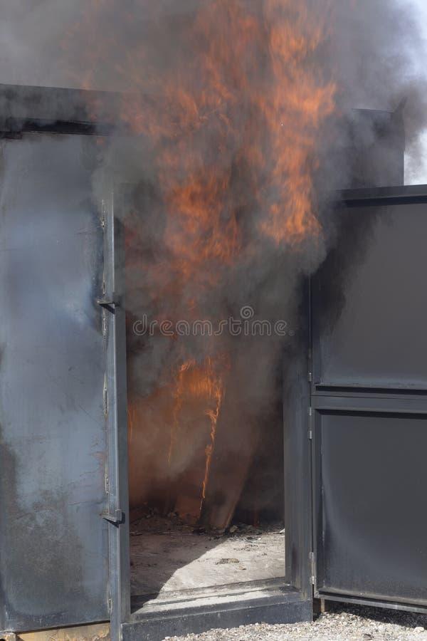 Matériel de formation de caserne de pompiers images stock