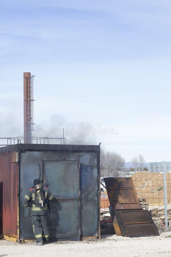 Matériel de formation de caserne de pompiers photographie stock libre de droits