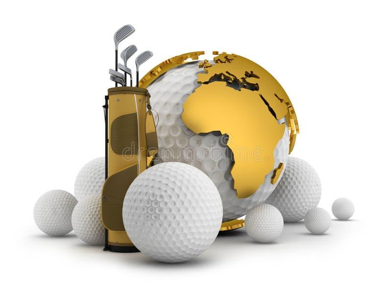 Matériel de golf - illustration de concept illustration libre de droits