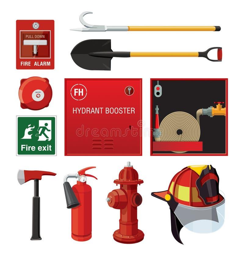 Matériel de lutte contre l'incendie illustration libre de droits