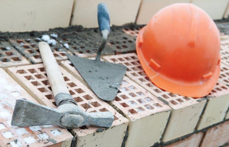 Matériel de maçon de construction photo libre de droits