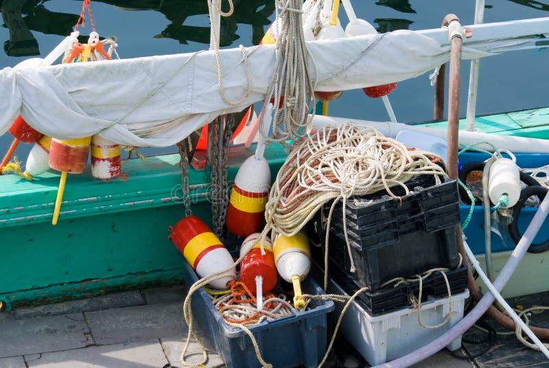 Matériel de pêche de langoustine photos libres de droits