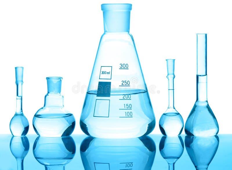 Matériel en verre chimique photo stock