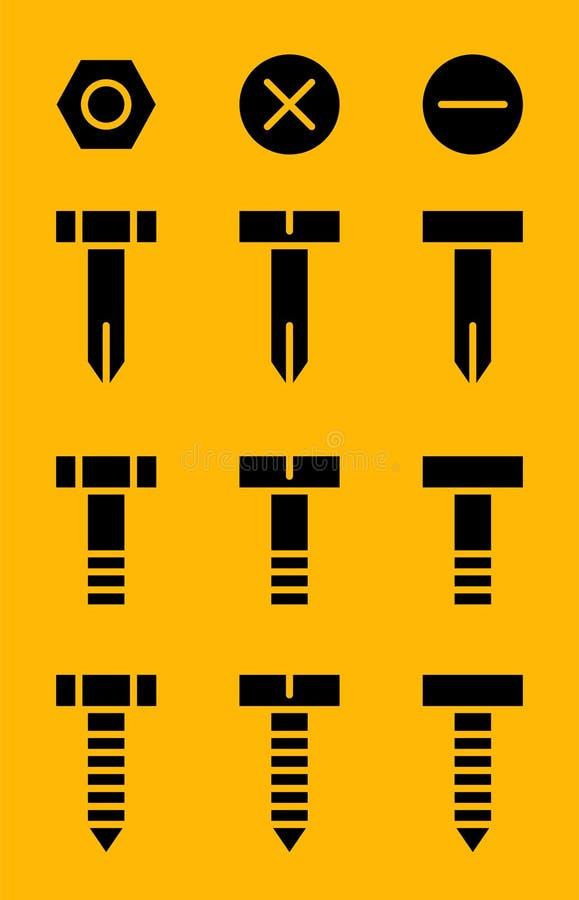 Matériel noir illustration de vecteur