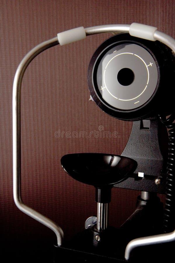 Matériel pour l'examen d'oeil photographie stock