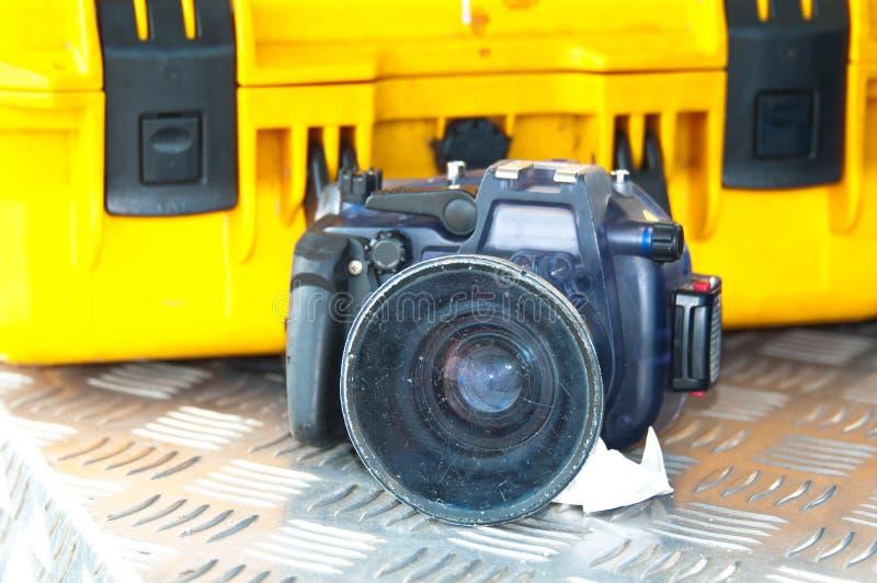Matériel sous-marin de photographie photographie stock