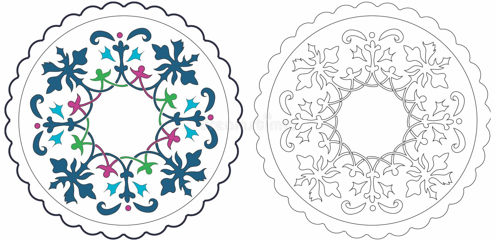 Download Mat stock vector. Image of copy, lace, ornate, scalloped - 7526859
