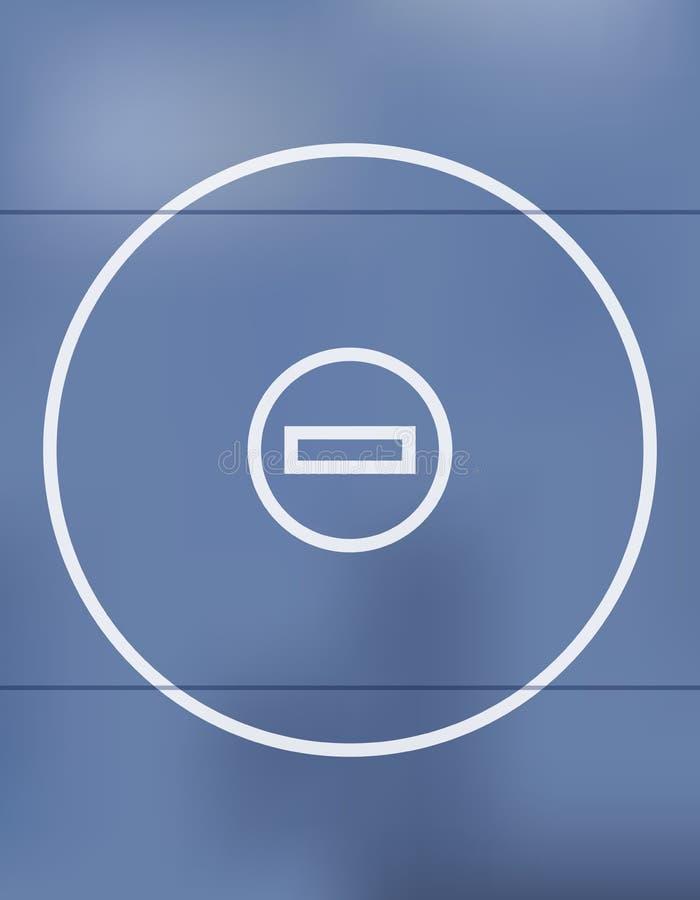Mat Background Illustration de lucha azul ilustración del vector