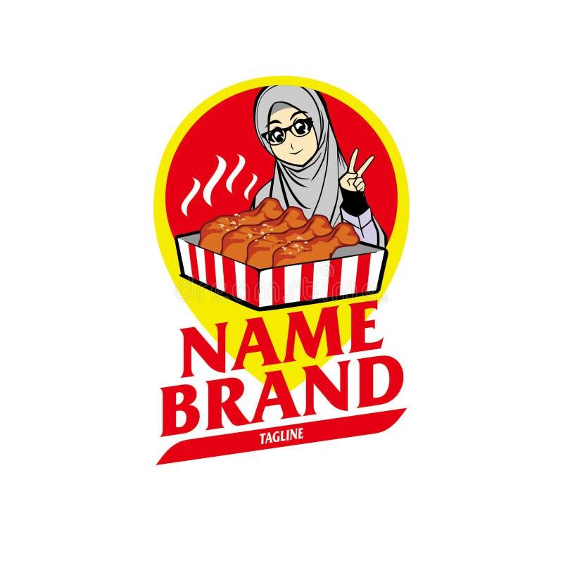 Mat- eller restaurangmärkeslogo royaltyfria bilder