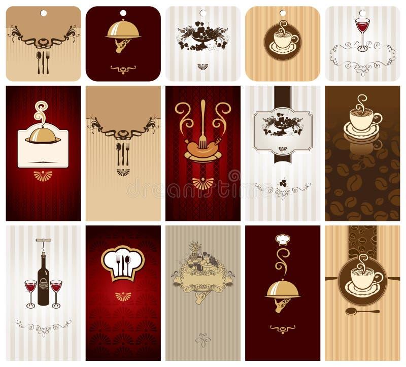 mat för affärskort stock illustrationer