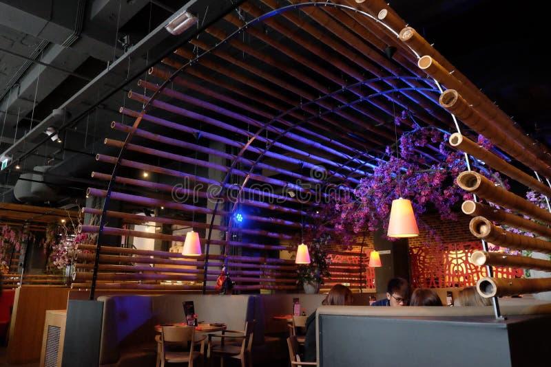 Mat för Amsterdam restaurangkines royaltyfri bild