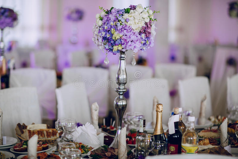 Mat för dekor för bröllopmottagande royaltyfri bild