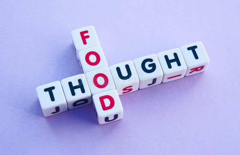 Mat för tanke arkivfoton
