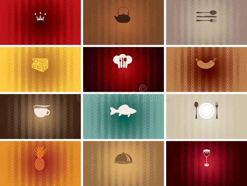 Mat och drink vektor illustrationer