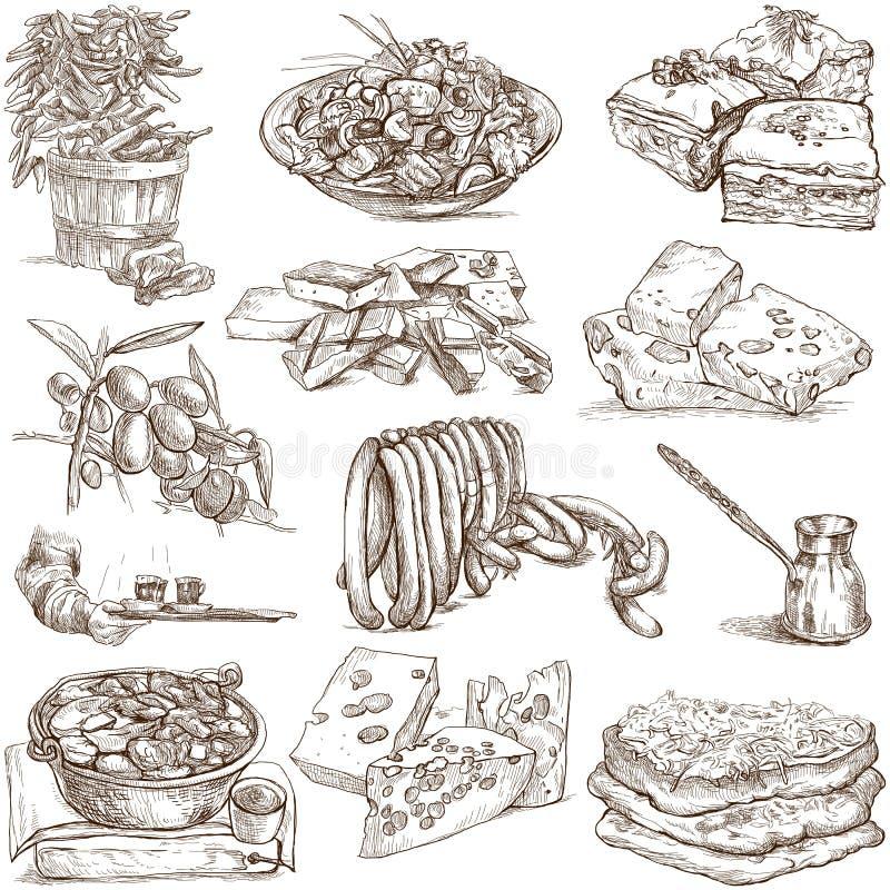 Mat och drinkar 4 royaltyfri illustrationer