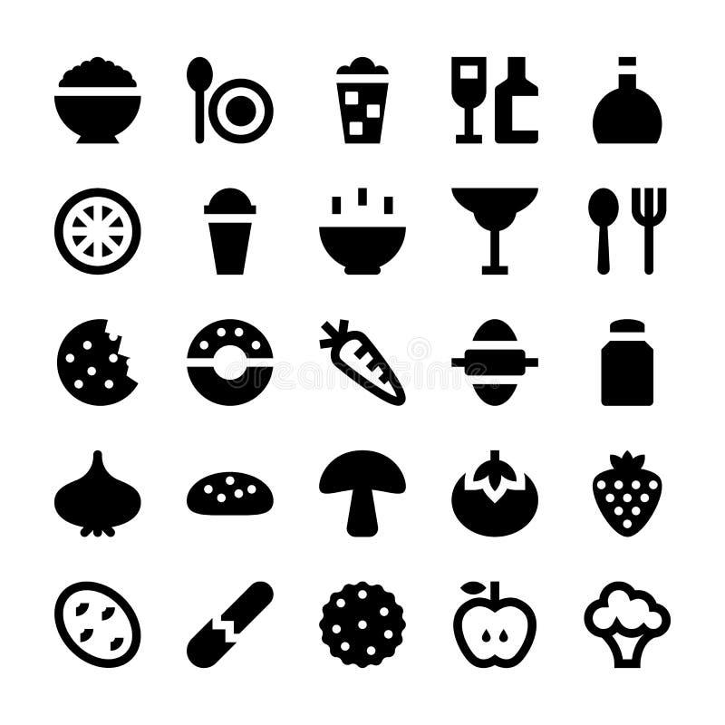 Mat- och drinkvektorsymboler 5 vektor illustrationer