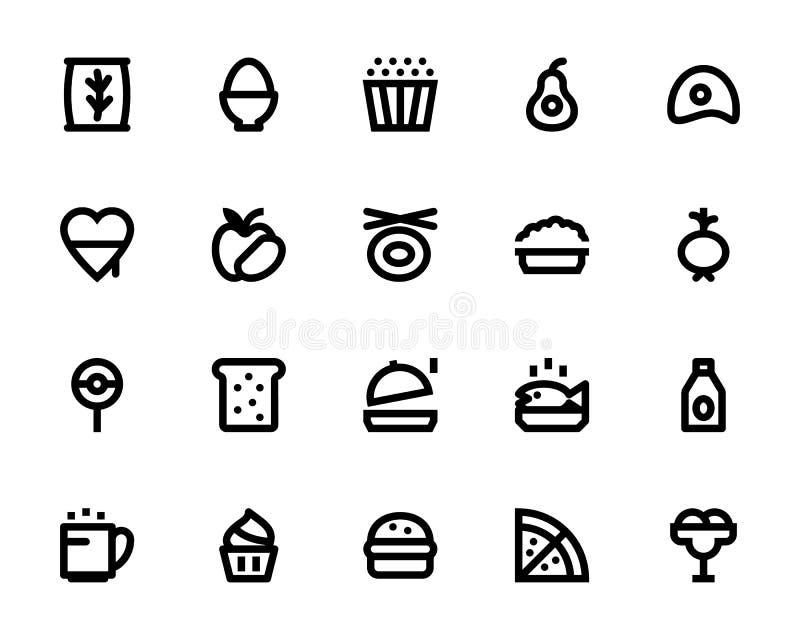 Mat- och drinkvektorsymboler 7 royaltyfri illustrationer