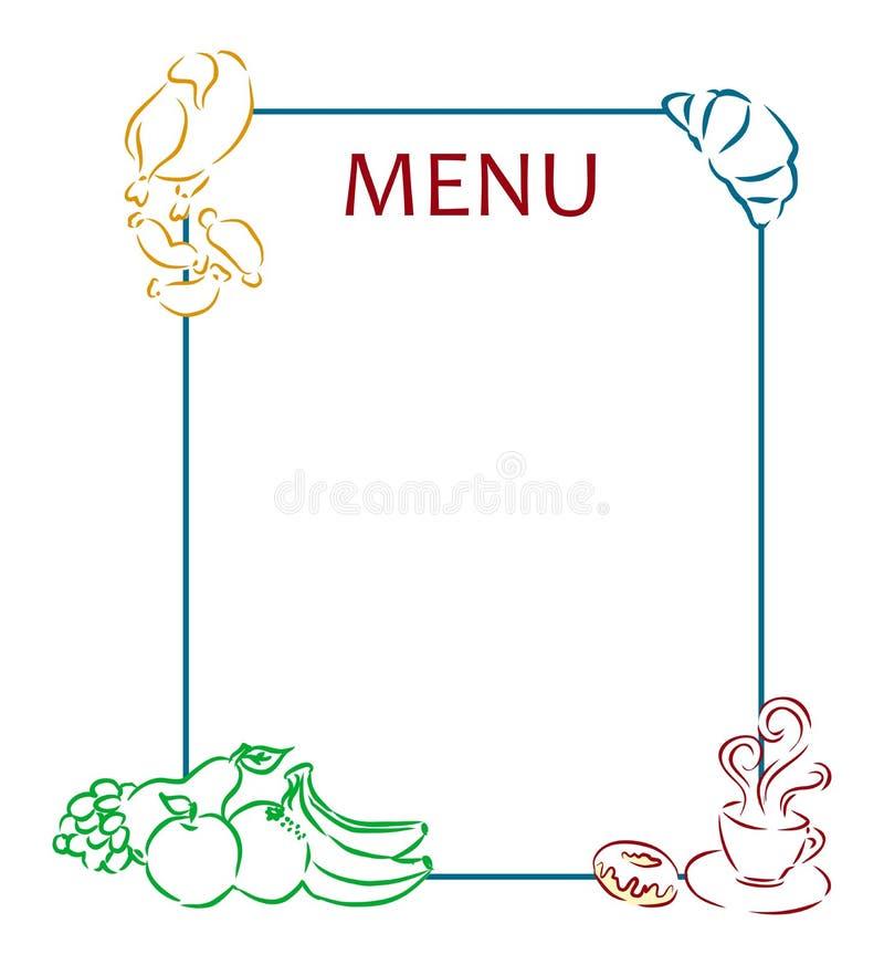 mat och meny vektor illustrationer