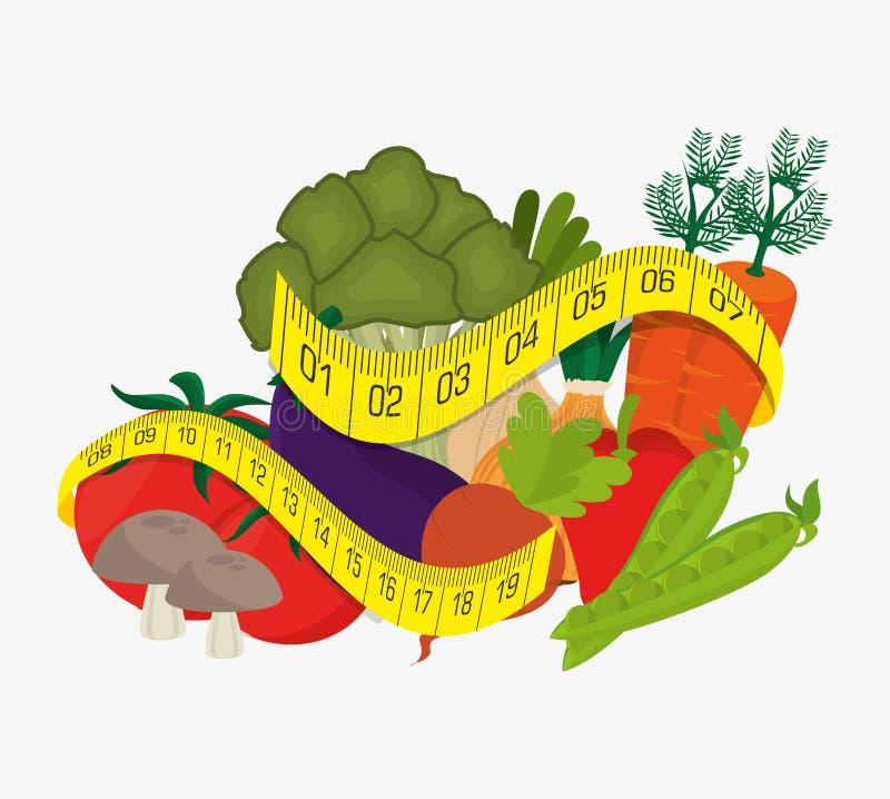 Mat och näring stock illustrationer