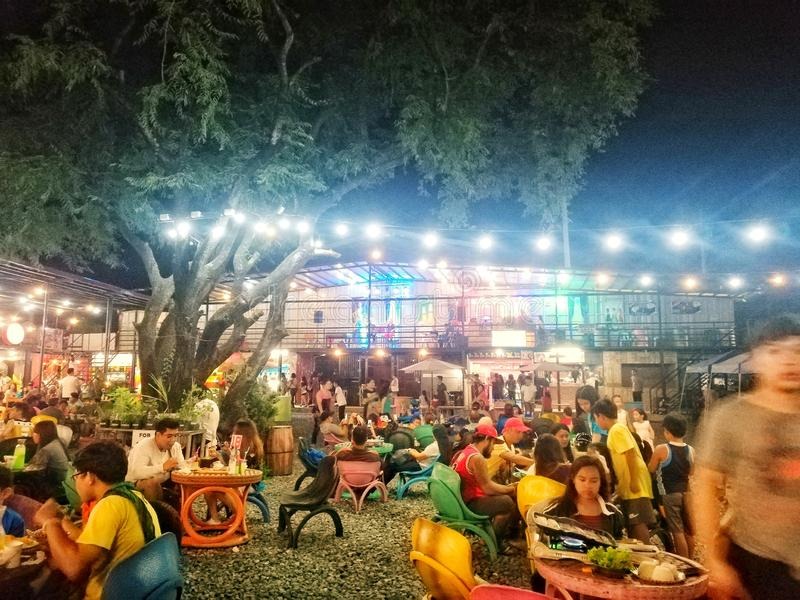 Mat parkerar i cavite philippines arkivbilder