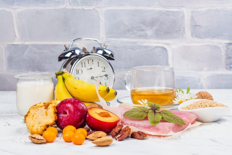Mat som innehåller melatoninen arkivbild