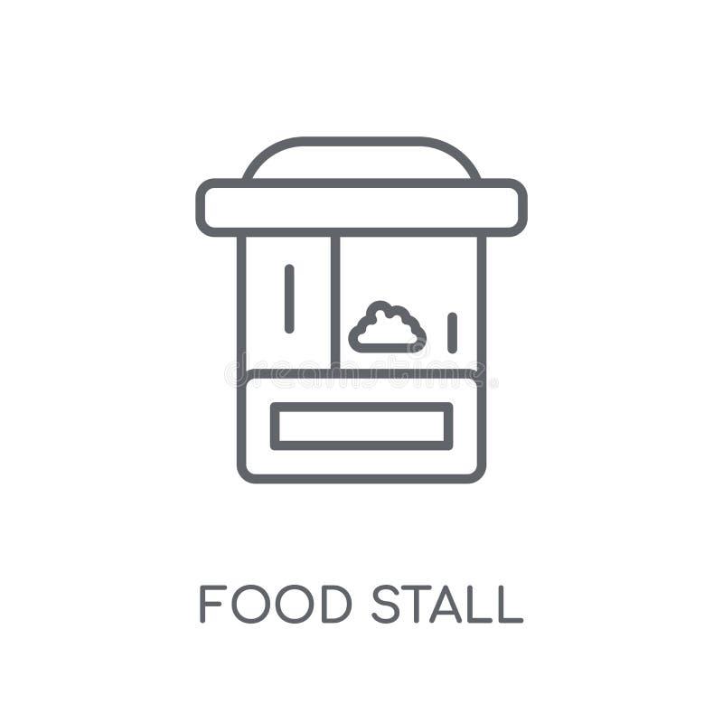 Mat stannar den linjära symbolen Modern översiktsmat stannar logobegreppsnolla stock illustrationer
