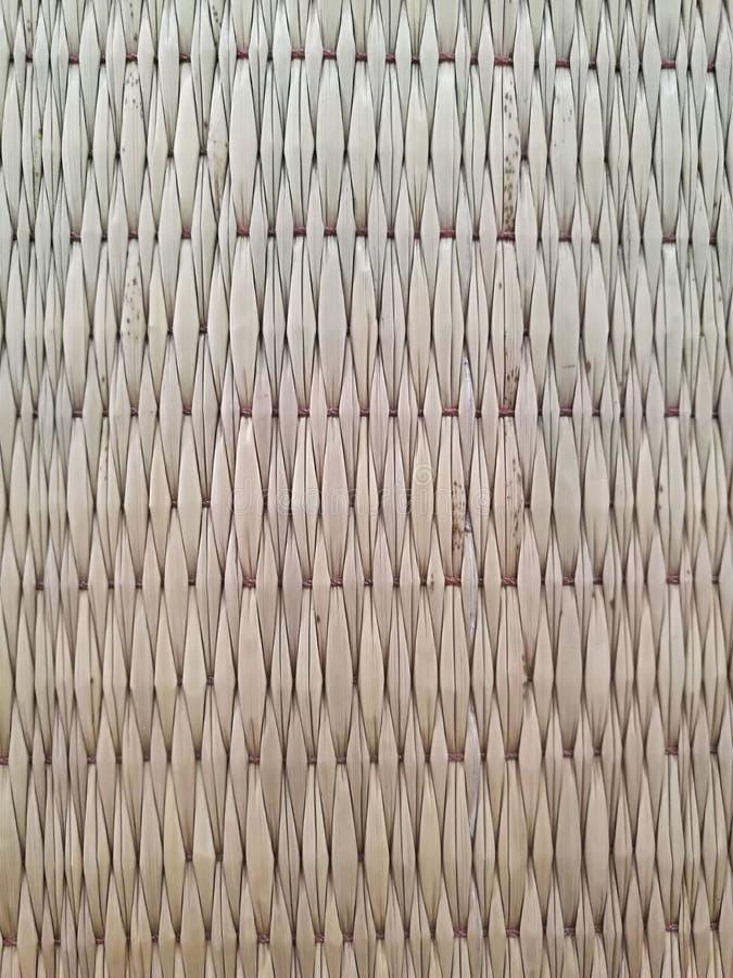 Mat van riet wordt gemaakt dat stock fotografie