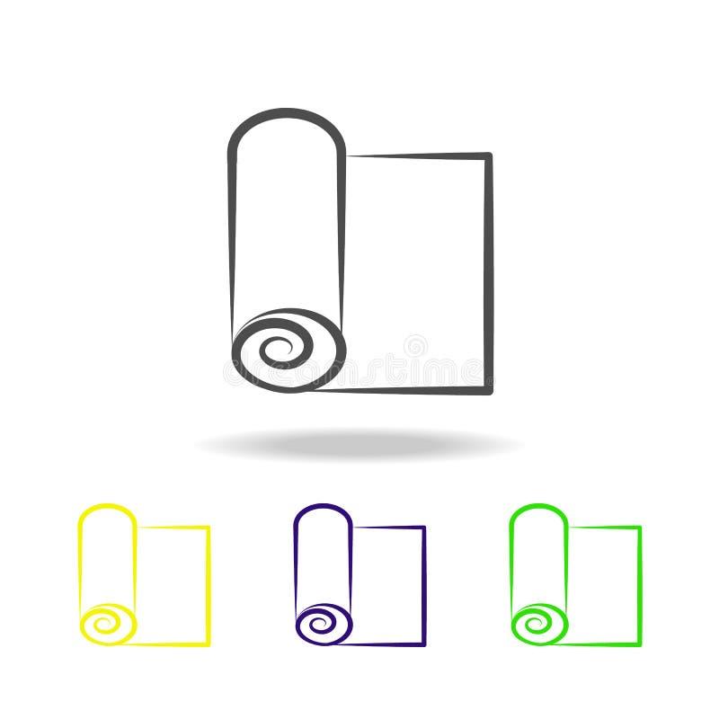 mat voor multicolored pictogram van de sportyoga Element van gezond het levens multicolored pictogram Tekens en symbolen het inza royalty-vrije illustratie