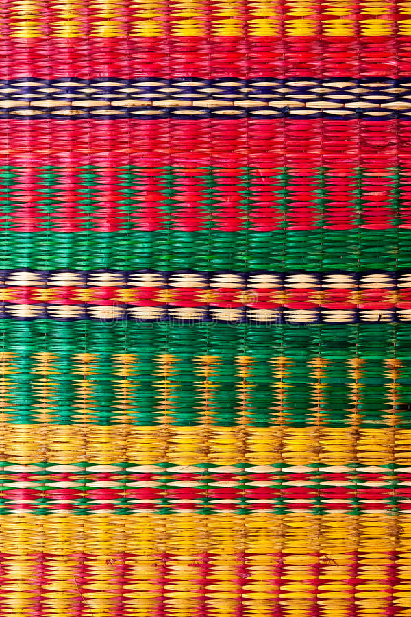 Mat Woven From Palm Leaves Stock Photo