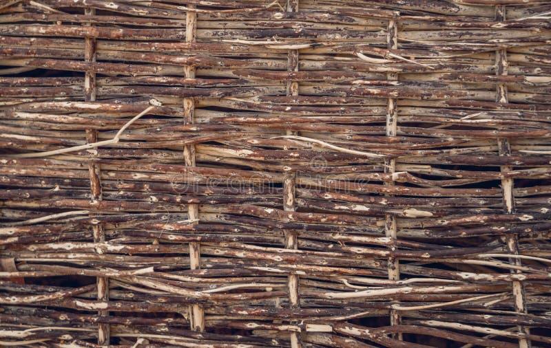 Mata cienkie wierzbowe gałązki Drewniana tekstura obrazy royalty free