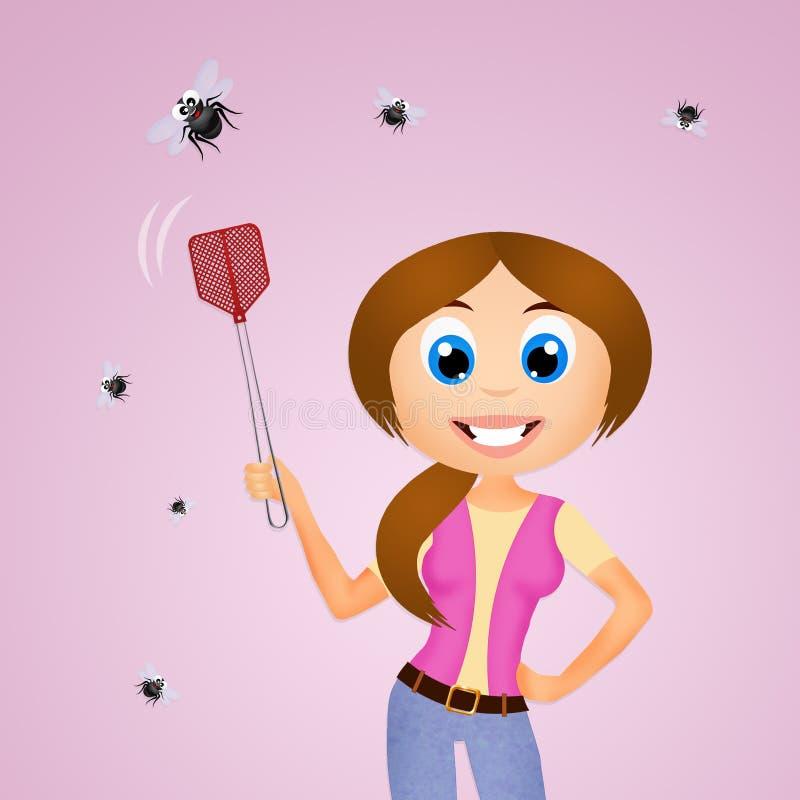 A mata-moscas de mosca ilustração royalty free