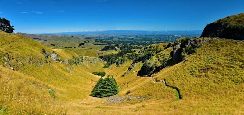Mata-toppen och omgivningen i Hastings, Hawkes Bay i Nya Zeeland arkivbild