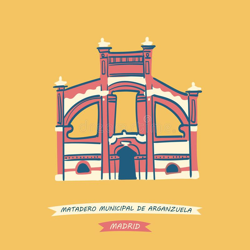 Matadero Madrid stock illustratie