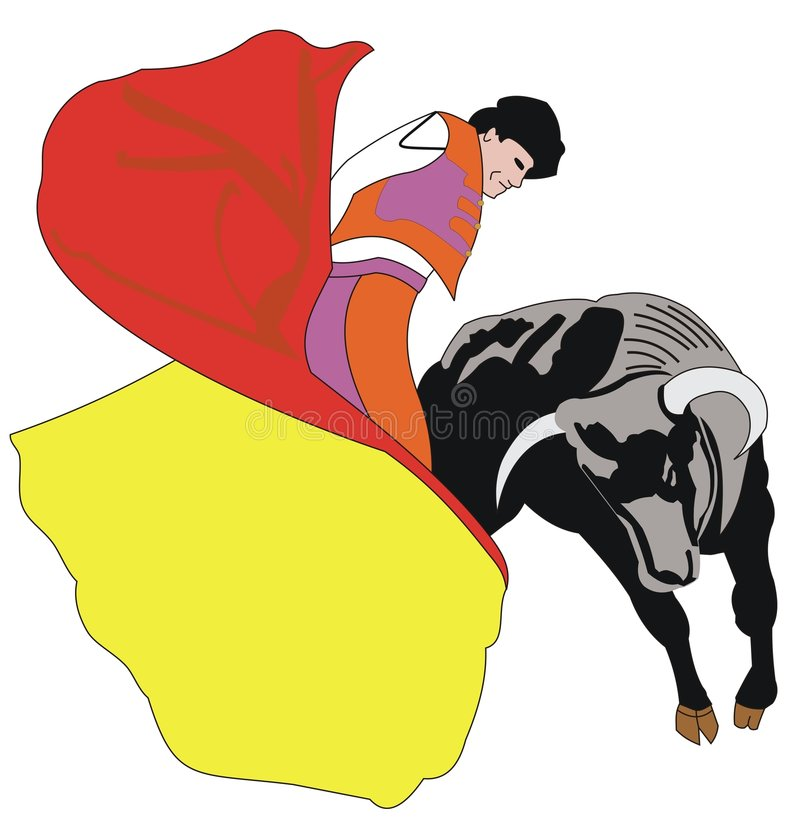 Download Matador vektor illustrationer. Illustration av spain, horn - 514606