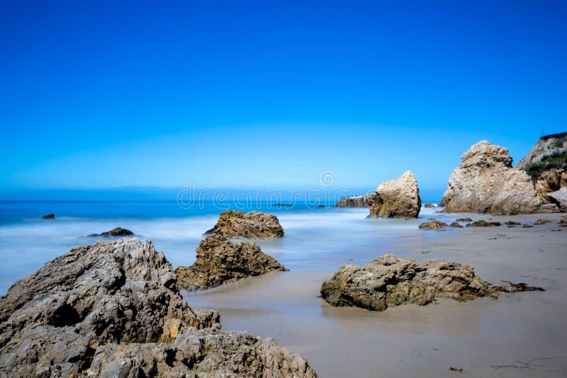 Matador Beach, Kalifornien arkivbild