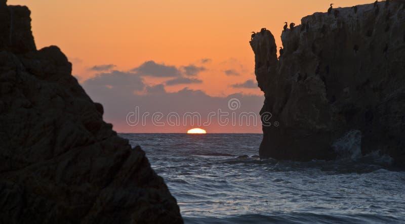 Matador Beach Sunset arkivbilder