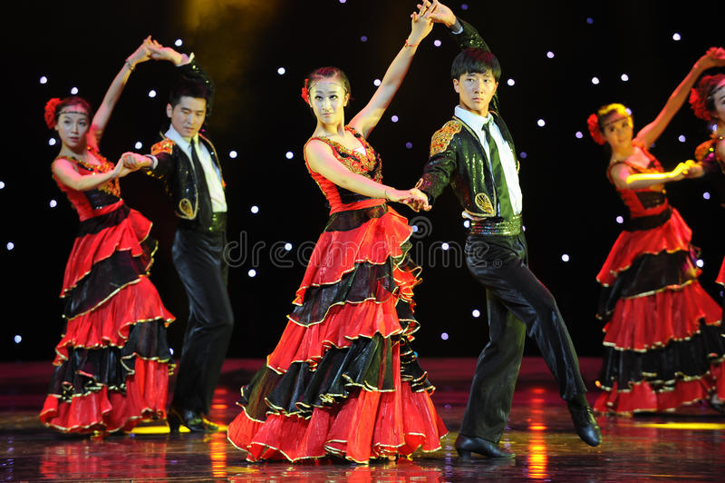 Matador Dance ---Den spanska nationella dansen arkivfoton
