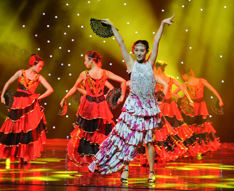 The Matador Dance ---The Spanish National Dance stock photography